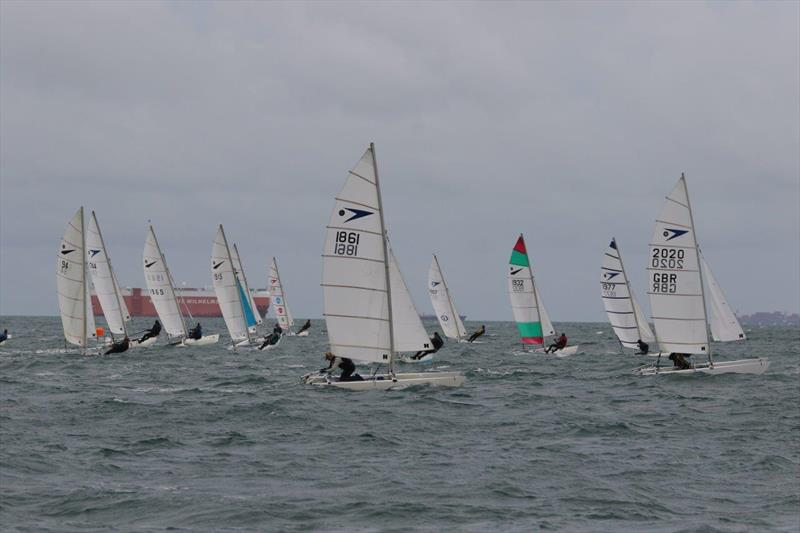 Race 4 of the Sprint 15 Sport Nationals at Yaverland - photo © Alan and Mary Howie-Wood