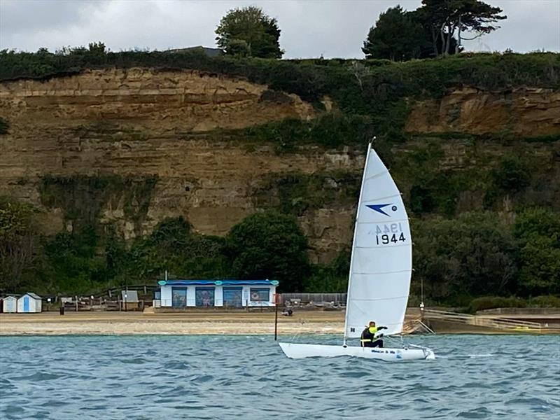 Simon Giles during the Shanklin Sailing Club time trial series race 1 - photo © Pascoal Fernandez