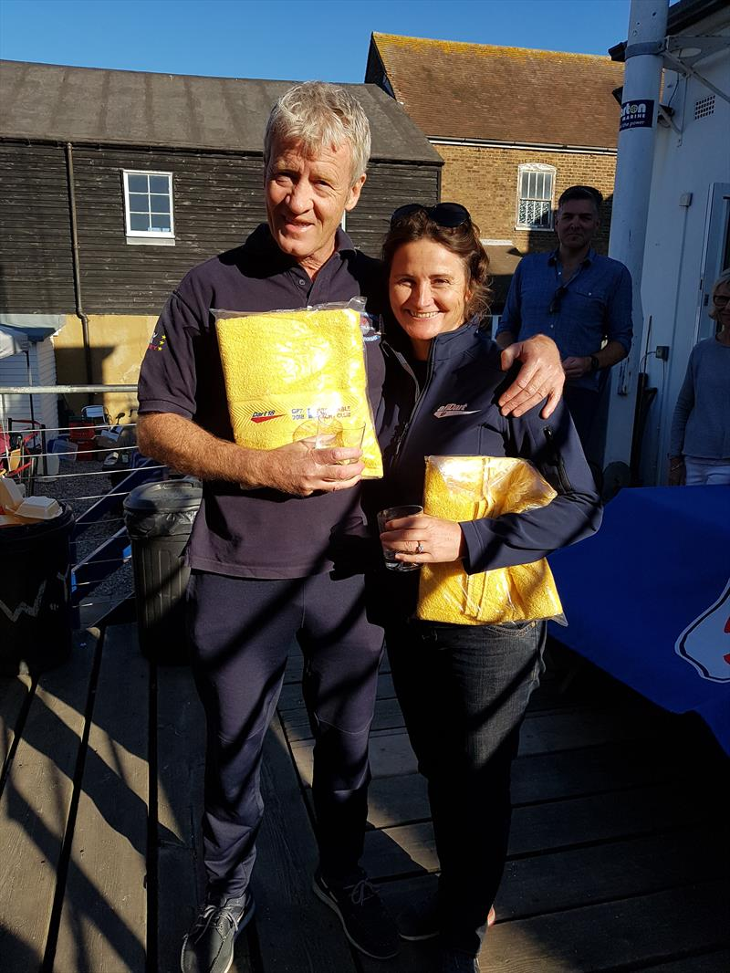 Rob Garcka & Fi Goegebeur win the Dart 18 GP at Whitstable photo copyright Sarka Ngassa taken at Whitstable Yacht Club and featuring the Dart 18 class