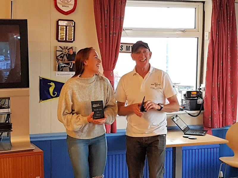 Prizewinners at the Dart 18 GP Round 6 at Mumbles  - photo © Mark Stones