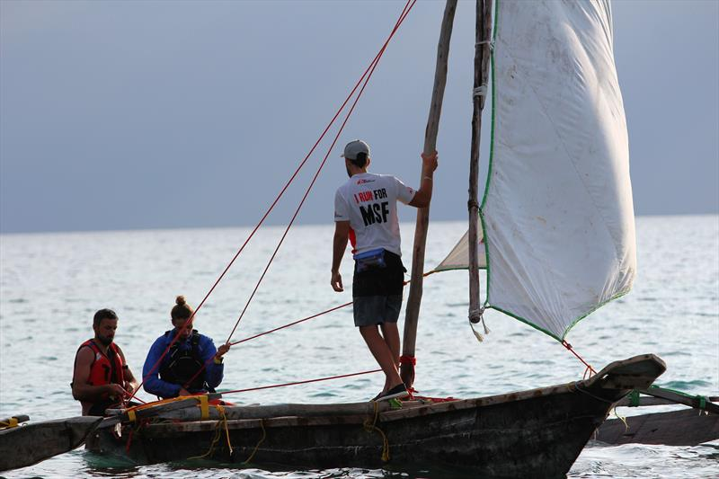 The Ngalawa Cup - Racing from Tanzania to Zanzibar, with a mango tree hull - photo © Libby Prins / The Adventurists