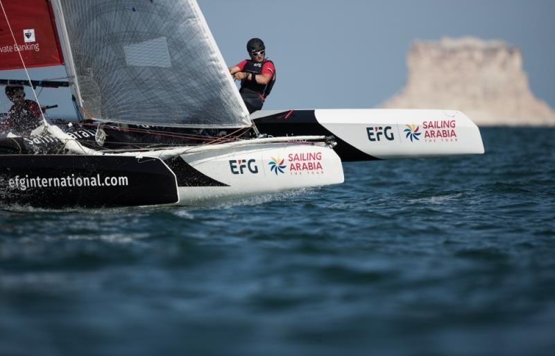 EFG Sailing Arabia The Tour on February 8th, 2018 in Duqm, Oman photo copyright Lloyd Images taken at Oman Sail and featuring the Diam 24OD class