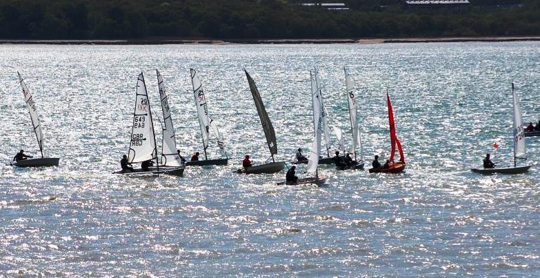 A Wednesday evening race at a popular South Coast club may look like the bill of lading for Noah's Ark (Just two of any given species – or classes!) but this is the reality of the grassroots sport - photo © Dougal Henshall