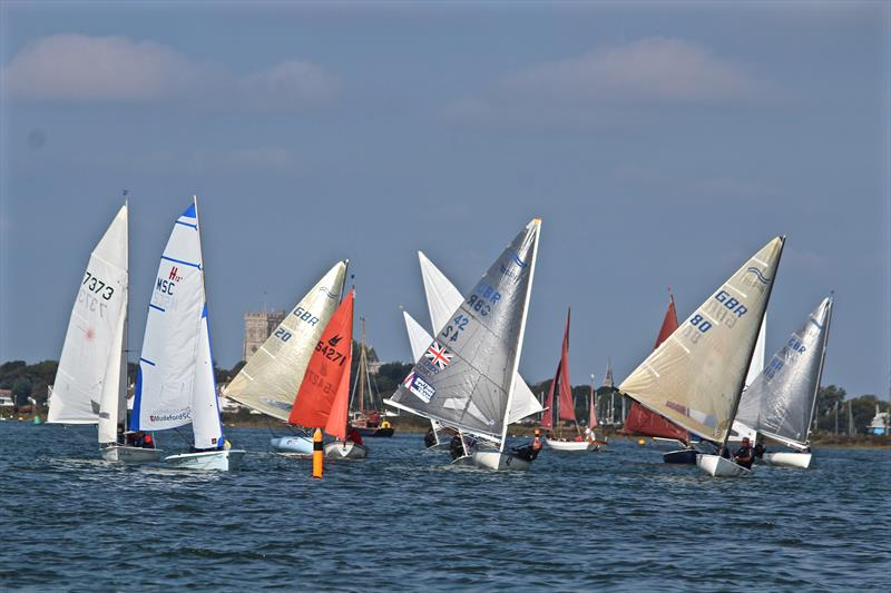Christchurch Harbour Interclub Series day 1 photo copyright Sarah Desjonqueres taken at Mudeford Sailing Club and featuring the Dinghy class