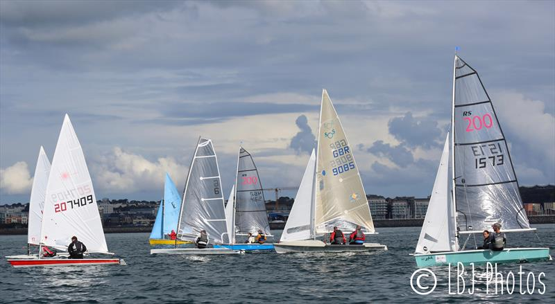 Class 8 after the start during the UBS Jersey Regatta 2017 - photo © LBJ Photos