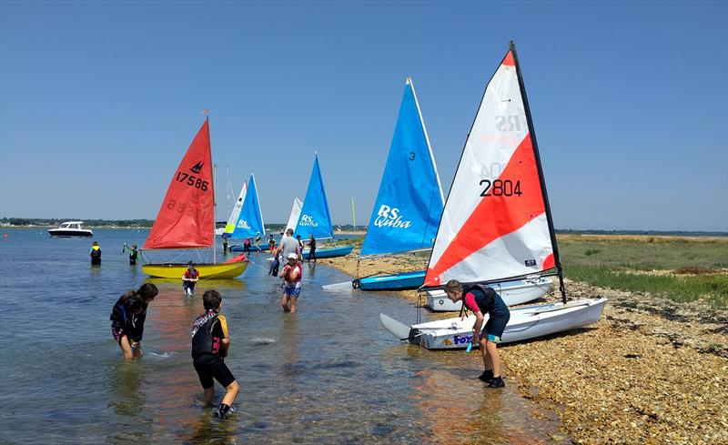 Youth dinghy sailing at Keyhaven Yacht Club - photo © Mark Jardine