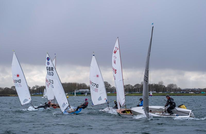 Rounding the leeward mark during the Notts County Cooler 2019 photo copyright David Eberlin taken at Notts County Sailing Club and featuring the Dinghy class