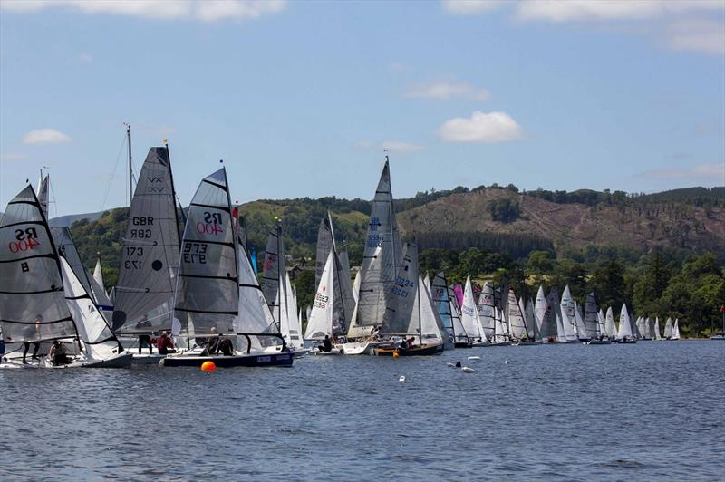 Lord Birkett 2019 Saturday start photo copyright Tim Olin / www.olinphoto.co.uk taken at Ullswater Yacht Club and featuring the Dinghy class