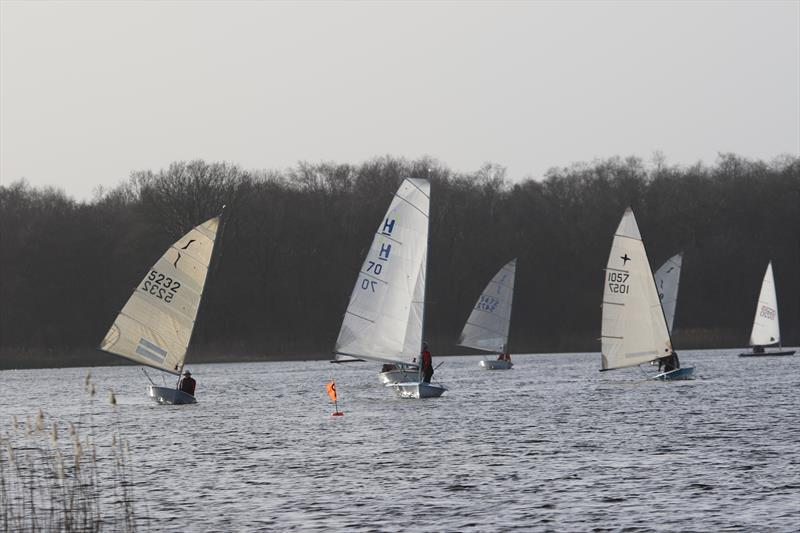 New Year's Day Open at Rollesby Broad - won by Ian Ayres (Solo) with Mike McNamara second (Harrier) photo copyright Kevin Davidson taken at Rollesby Broad Sailing Club and featuring the Dinghy class