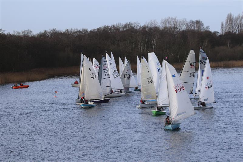 New Year's Day Open at Rollesby Broad - race 2 photo copyright Kevin Davidson taken at Rollesby Broad Sailing Club and featuring the Dinghy class