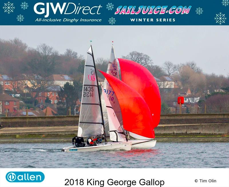 First ever King George Gallop forms part of the GJW Direct SailJuice Winter Series photo copyright Tim Olin / www.olinphoto.co.uk taken at King George Sailing Club and featuring the Dinghy class
