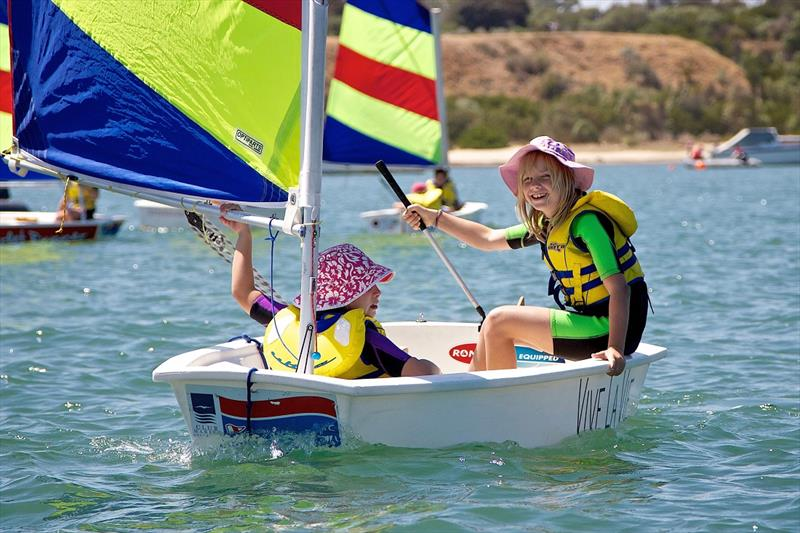 Kids enjoying a morning on the water off SYC  - photo © Sandringham Yacht Club