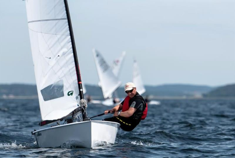 Runner-up Bo Petersen at the OK Dinghy Nordic Championship - photo © Joel Hernestål, Spline AB