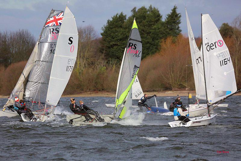 To and from the bottom mark, various ways up - Alton Water Fox's Chandlery Frostbite Series week 2 - photo © Tim Bees