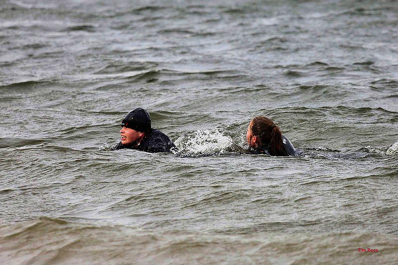 Practising for the Great East Swim five months early - Alton Water Fox's Chandlery Frostbite Series week 2 - photo © Tim Bees