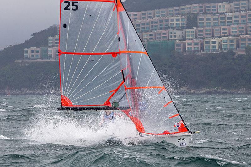 Hong Kong Raceweek 2019. 29er. Augustin Clot and Adam Pheasant (HKG), 2nd photo copyright RHKYC / Guy Nowell taken at Royal Hong Kong Yacht Club and featuring the Dinghy class