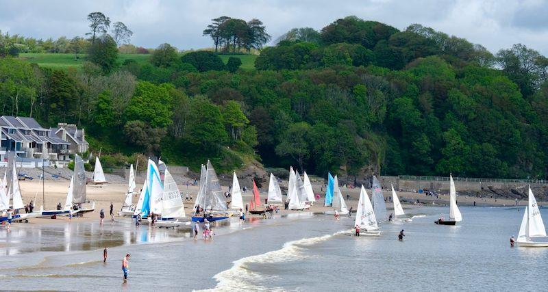 Launching at the 47th Coppet Week Regatta at Saundersfoot photo copyright Rob Davies taken at Saundersfoot Sailing Club and featuring the Dinghy class