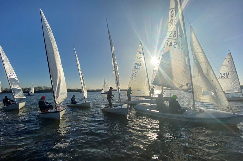 Gentle start to Race 6 of the Bough Beech Sailing Club Icicle - photo © Mark Nichols