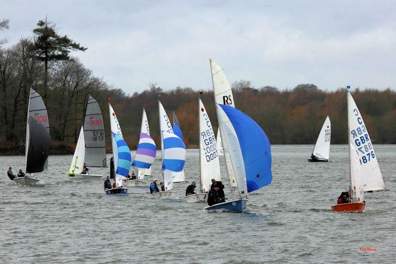Before the breeze kicked in on week 5 of the Alton Water 2020 Fox's Chandlery & Anglian Water Frostbite Series - photo © Tim Bees