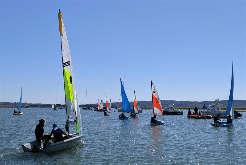 Junior Sailing at Keyhaven photo copyright Mark Jardine taken at Keyhaven Yacht Club and featuring the Dinghy class