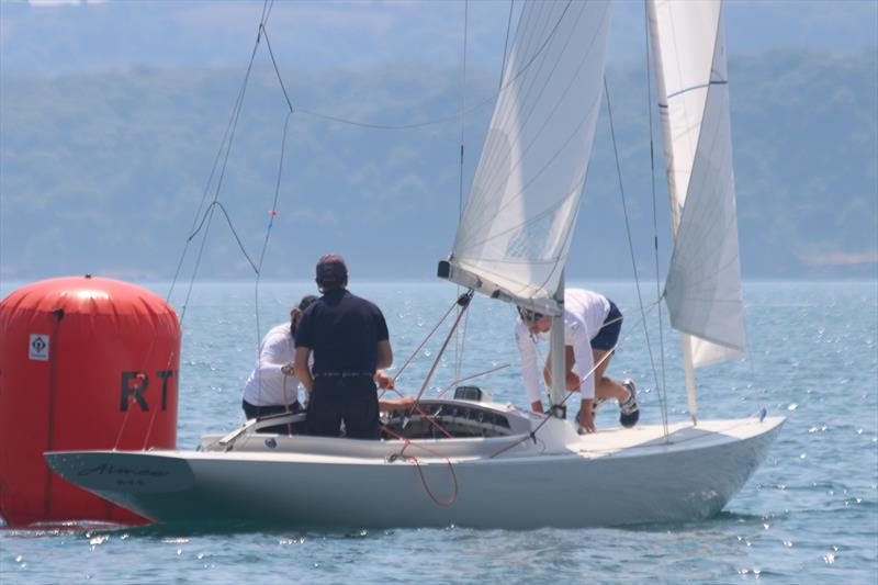 Aimee on the way to a decisive victory in the Dragon Edinburgh Cup at Torbay - photo © Rupert Holmes