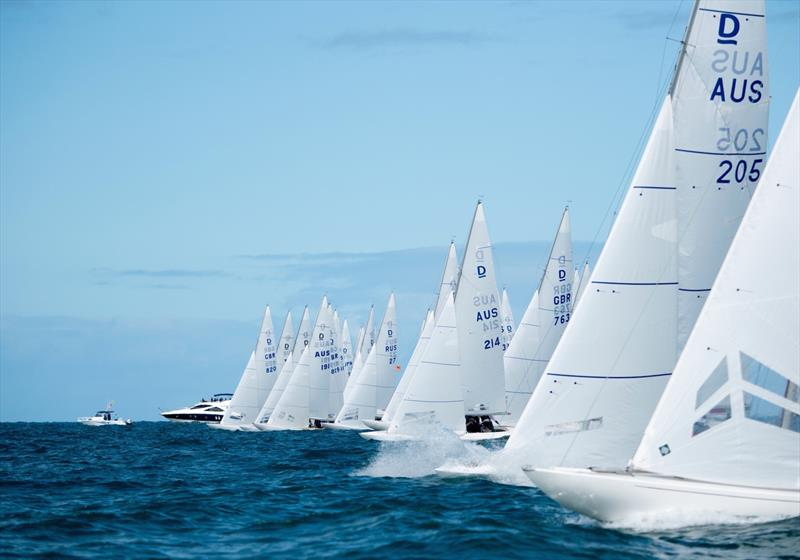 Startline on day 1 of the Dragon World Championship in Fremantle - photo © Tom Hodge Media