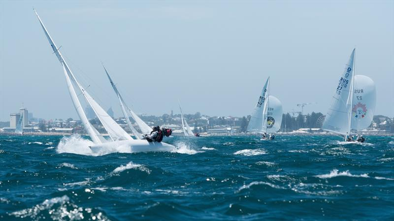 Race 6 on day 4 of the 2019 Dragon World Championship - photo © Tom Hodge Media