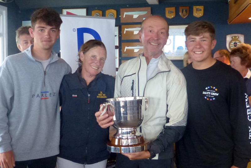 Graham Bailey, Julia Bailey, Will Heritage and Will Bedford win the fourth race and the Terry Wade memorial trophy at the Haulfryn Dragon Edinburgh Cup - photo © BDA