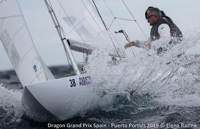 2019 Dragon Grand Prix Spain - Day 1 photo copyright Elena Razina taken at  and featuring the Dragon class