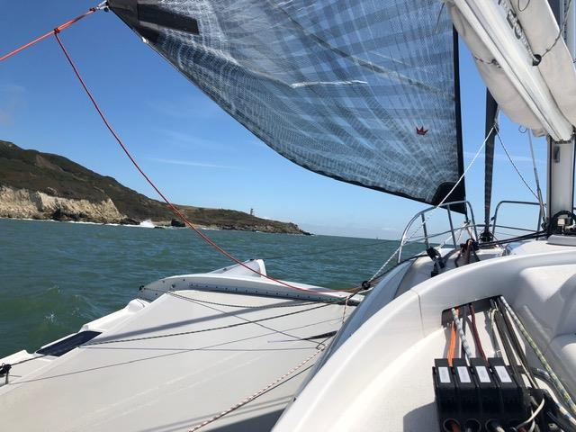 Code Zero up onboard Dragonfly during the RORC's Race the Wight - photo © Dragonfly