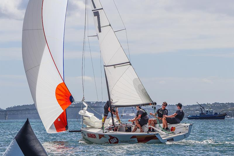 Egnot-Johnson (NZ) - Harken Youth Match Racing World Championship - Day 1 - February 27, 2020 - Waitemata Harbour - photo © Andrew Delves