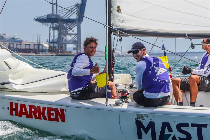 Harken Youth Match Racing World Championship - Day 2 - February 28, 2020 - Waitemata Harbour photo copyright Andrew Delves taken at Royal New Zealand Yacht Squadron and featuring the Elliott 6m class