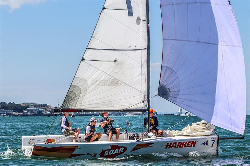 Auckland Grammar - Harken National Secondary Schools Keelboat Championships - Waitemata Harbour - 2020 - photo © Andrew Delves