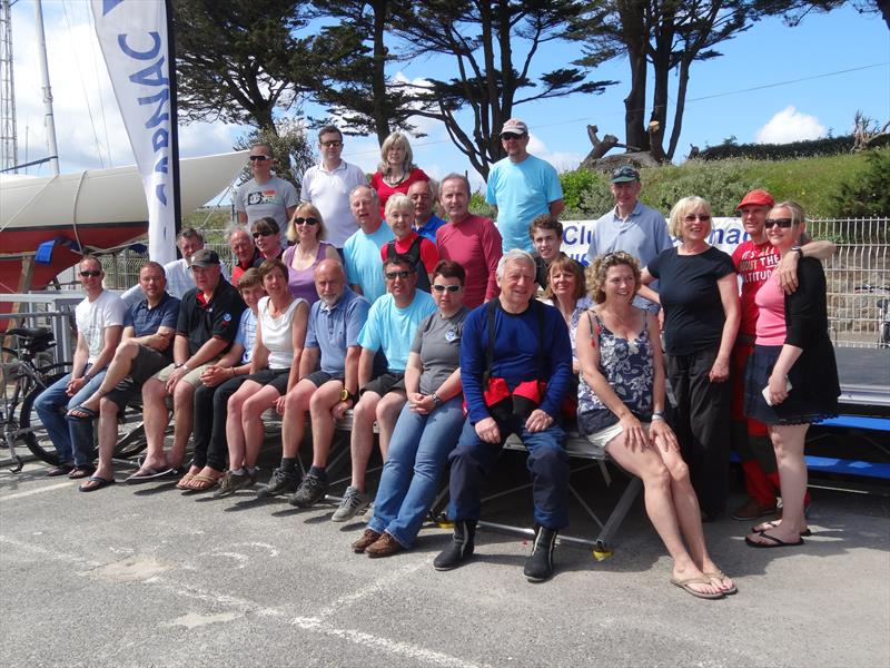 Enterpise competitors outside the Yacht Club de Carnac at Carnac 2014 - photo © Paula Southworth