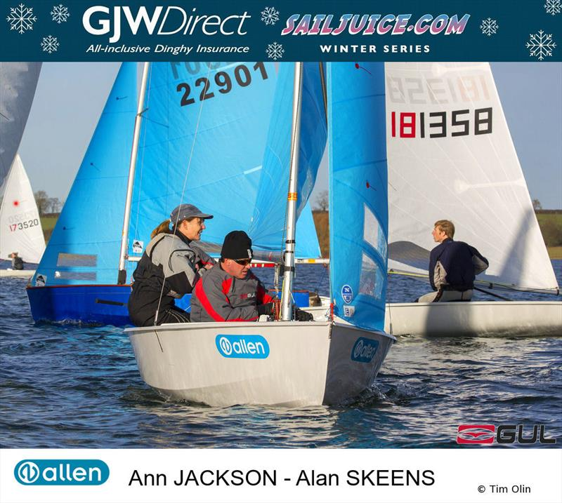 Ann Jackson & Alan Skeens during the John Merricks Tiger Trophy - GJW Direct Sailjuice Winter Series Round 6 - photo © Tim Olin / www.olinphoto.co.uk