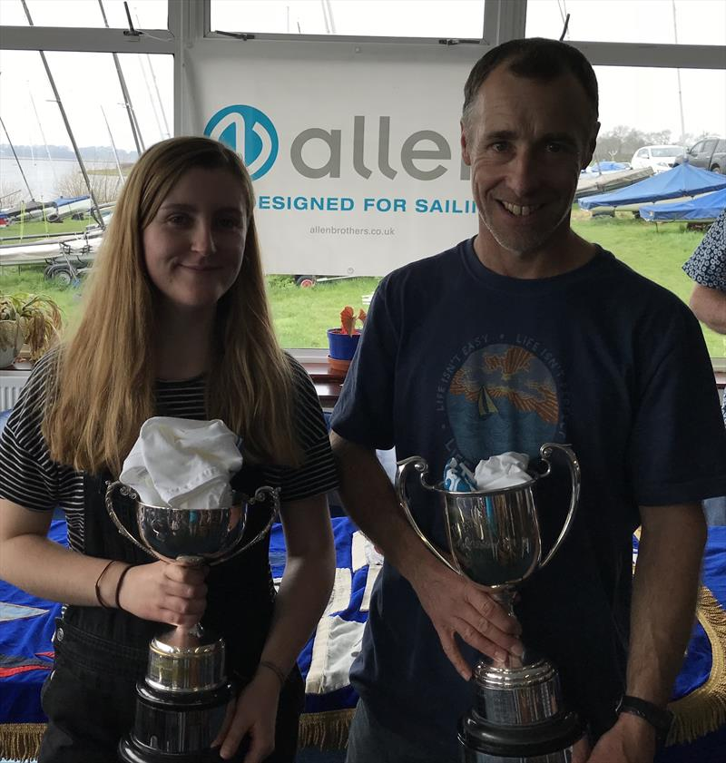 Jeremy & Becca Stephens win the 2018 Allen Enterprise Inlands at Blithfield photo copyright Ent Association taken at Blithfield Sailing Club and featuring the Enterprise class