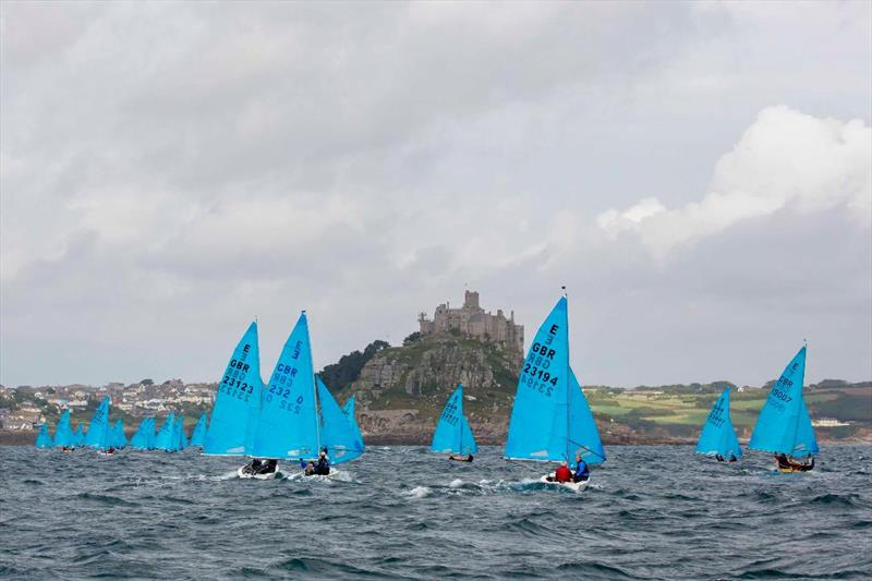Running towards the Mount on day 2 of the Allen, North Sails & Selden Enterprise Nationals at Mount's Bay - photo © Tim Olin / www.olinphoto.co.uk