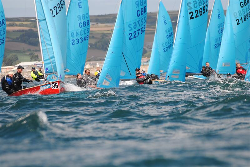 The fleet on day 3 of the Allen, North Sails & Selden Enterprise Nationals at Mount's Bay - photo © Martyn Curnow