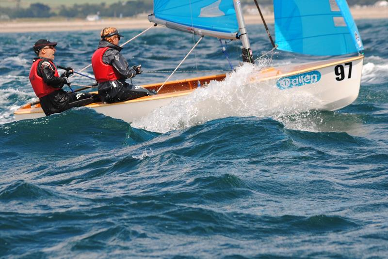 Jer and Becca from Penzance SC on day 3 of the Allen, North Sails & Selden Enterprise Nationals at Mount's Bay - photo © Martyn Curnow