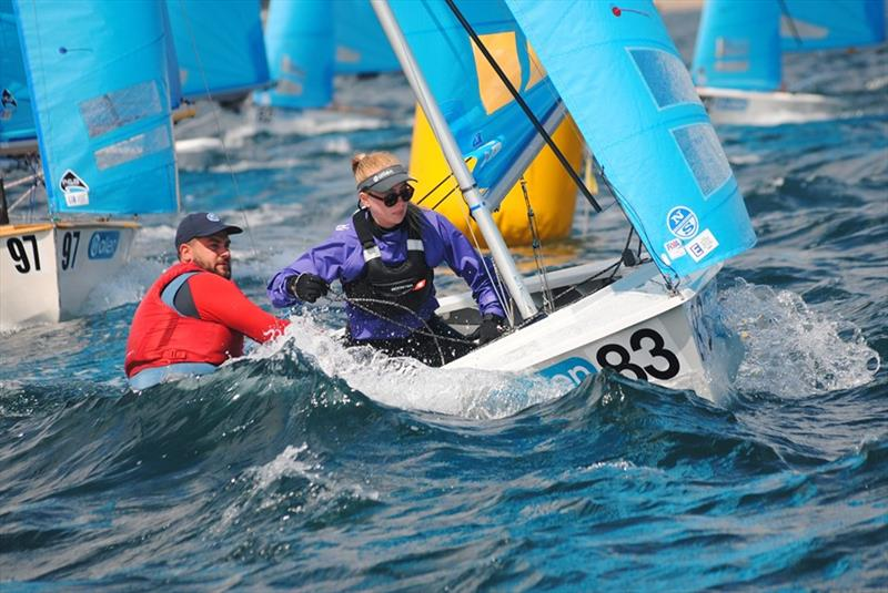 Matt and Vicky on day 4 of the Allen, North Sails & Selden Enterprise Nationals at Mount's Bay - photo © Martyn Curnow