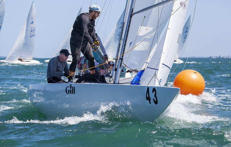 Chris Hampton, Sam Haines and Charlie Cumbley on Tango on day 3 of the Etchells Australian Championship - photo © John Curnow