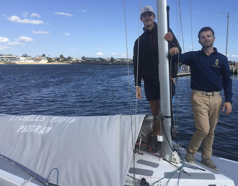 James Grogan from RBYC is going to lead the charge for the club with their Youth Program in the Etchells. Seen here with Francesco Battaglini from the club. - photo © Adrian Finglas