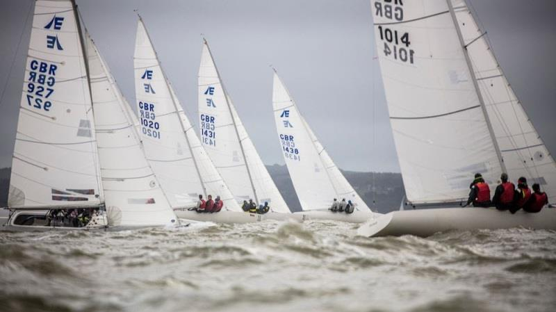 2019 Etchells British Open and National Championship photo copyright Louay Habib taken at Royal Ocean Racing Club and featuring the Etchells class