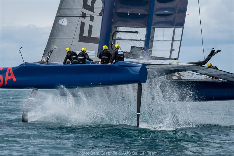 SailGP trials of the supercharged F50 boats - photo © Sam Greenfield / AUS SailGP Team