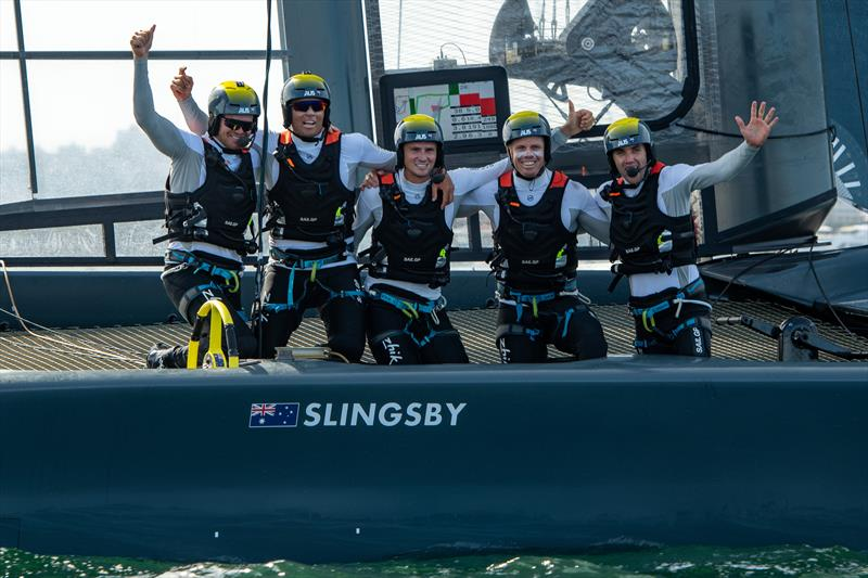 SailGP Australia Team after winning at the Sydney SailGP - photo © Chris Cameron / SailGP