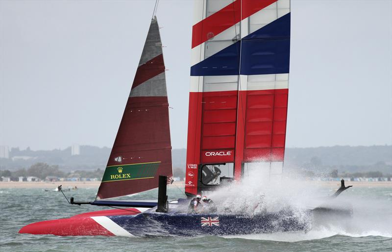 Strong winds for the Cowes SailGP on Sunday photo copyright Mark Jardine taken at  and featuring the F50 class