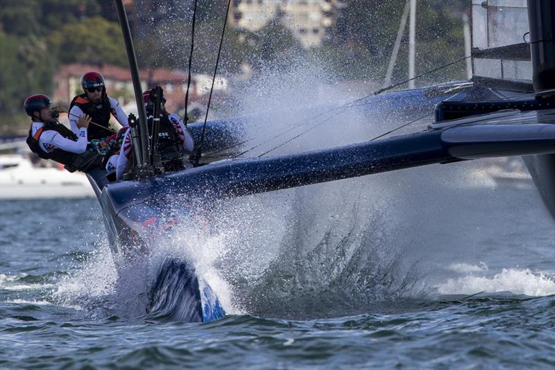 Team USA splashdown photo copyright Andrea Francolini taken at Royal Sydney Yacht Squadron and featuring the F50 class