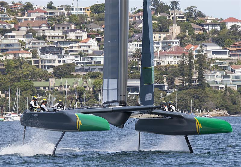 Team AUS prepare to gybe - photo © John Curnow
