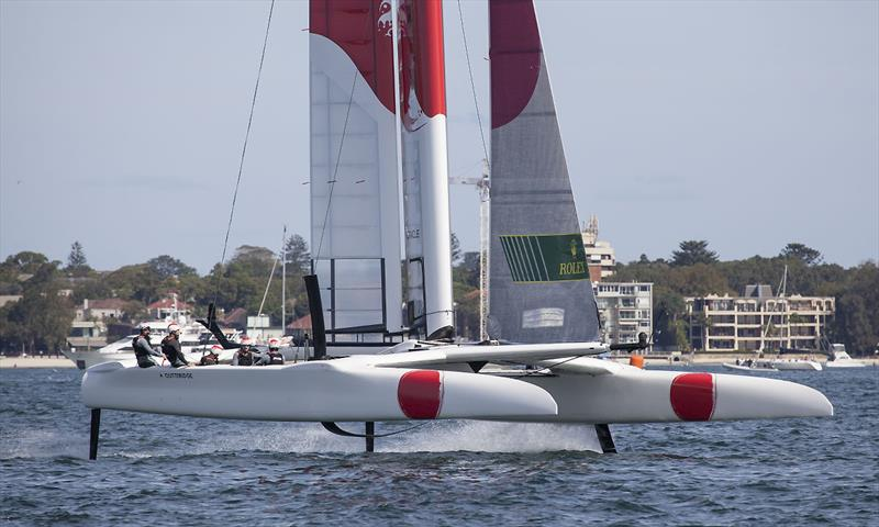Team Japan in full flight photo copyright John Curnow taken at Royal Sydney Yacht Squadron and featuring the F50 class