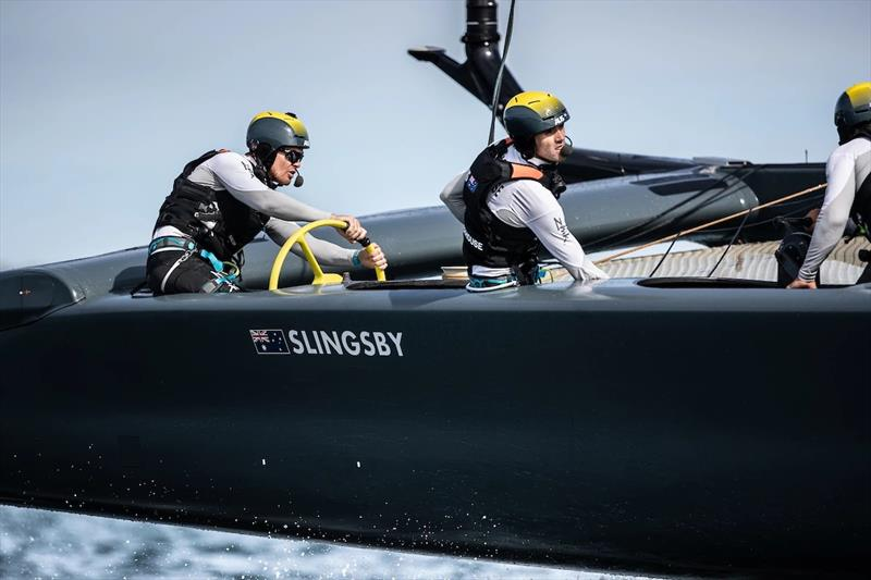 Slingsby behind the wheel in Sydney photo copyright SailGP taken at  and featuring the F50 class